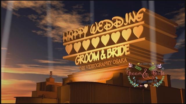 ハリウッドスタイルのオープニング映像@結婚式/披露宴
