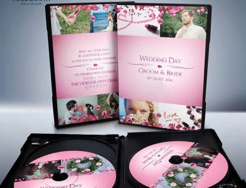 結婚式用DVDジャケット/パッケージデザイン&レーベル/盤面印刷デザイン Vol.5