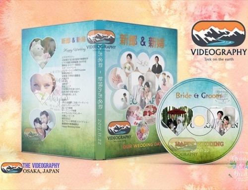 結婚式用DVDラベル/パッケージデザイン/レーベル/盤面印刷デザイン Vol.7