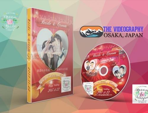 結婚式用DVDジャケット パッケージデザイン ラベル 盤面印刷デザイン Vol.8