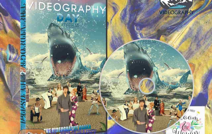 Parody Movie@Jaws / 海外映画「Jaws」風のオープニング映像用DVDデザインサンプル