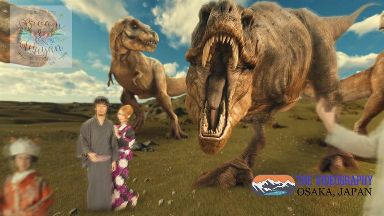 Photo002:パロディ動画:ティラノサウルス/TREX・海外映画「ジュラシック・パーク」風オープニング映像用