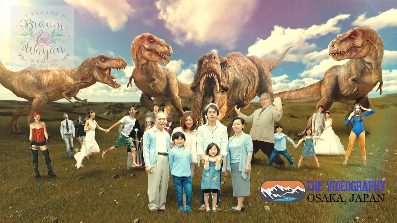 Photo004:パロディ動画:ティラノサウルス/TREX・海外映画「ジュラシック・パーク」風オープニング映像用