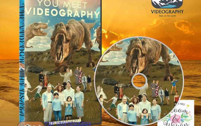 パロディ動画:ティラノサウルス/TREX・海外映画「ジュラシック・パーク」風オープニング映像用DVDデザインサンプル