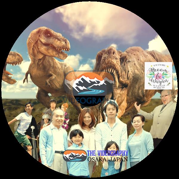 パロディ動画:ティラノサウルス/TREX・海外映画「ジュラシック・パーク」風オープニング映像用盤面印刷デザイン