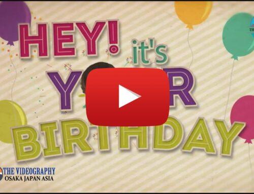 お誕生日 Happy Birthday動画 サプライズビデオレター用オープニングムービー