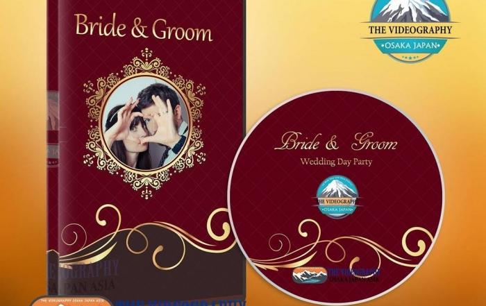 結婚式/披露宴/パーティ/クリスマスイベント用DVDジャケット/パッケージデザイン/盤面印刷デザイン Vol.9