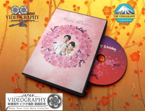 春の季節に相応しい桜舞い散るDVDレーベル/ラベルデザイン・盤面印刷デザイン