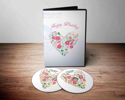 結婚式ムービーに最適なDVDパッケージデザイン・盤面印刷デザイン 2017無料版(固定価格:5万円以上のフォトスライドショーに適用)