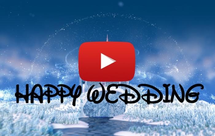 ディズニースタイル結婚式ムービー@YouTube動画サイト。