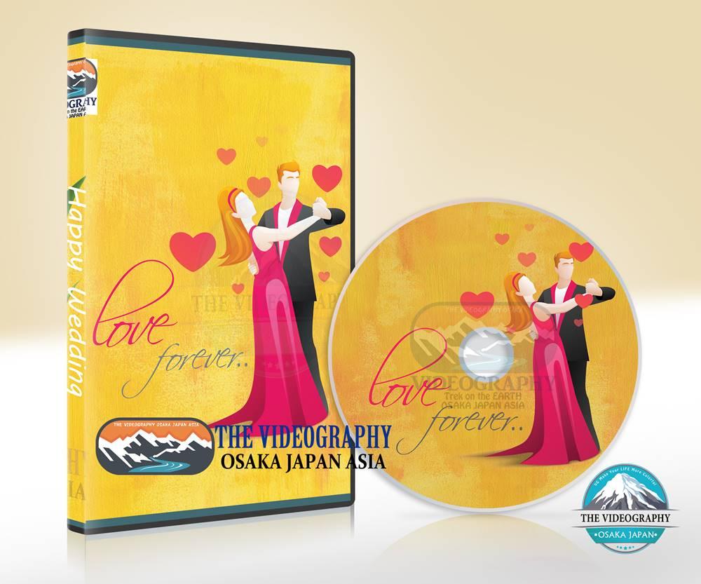 プロポーズの為の記念DVD作成サービス・ジャケットデザイン/盤面印刷デザイン