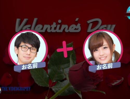 Happy Valentine's Day! ハッピー・バレンタイン・デーに最適なバラの花びら舞うおしゃれでポップな動画