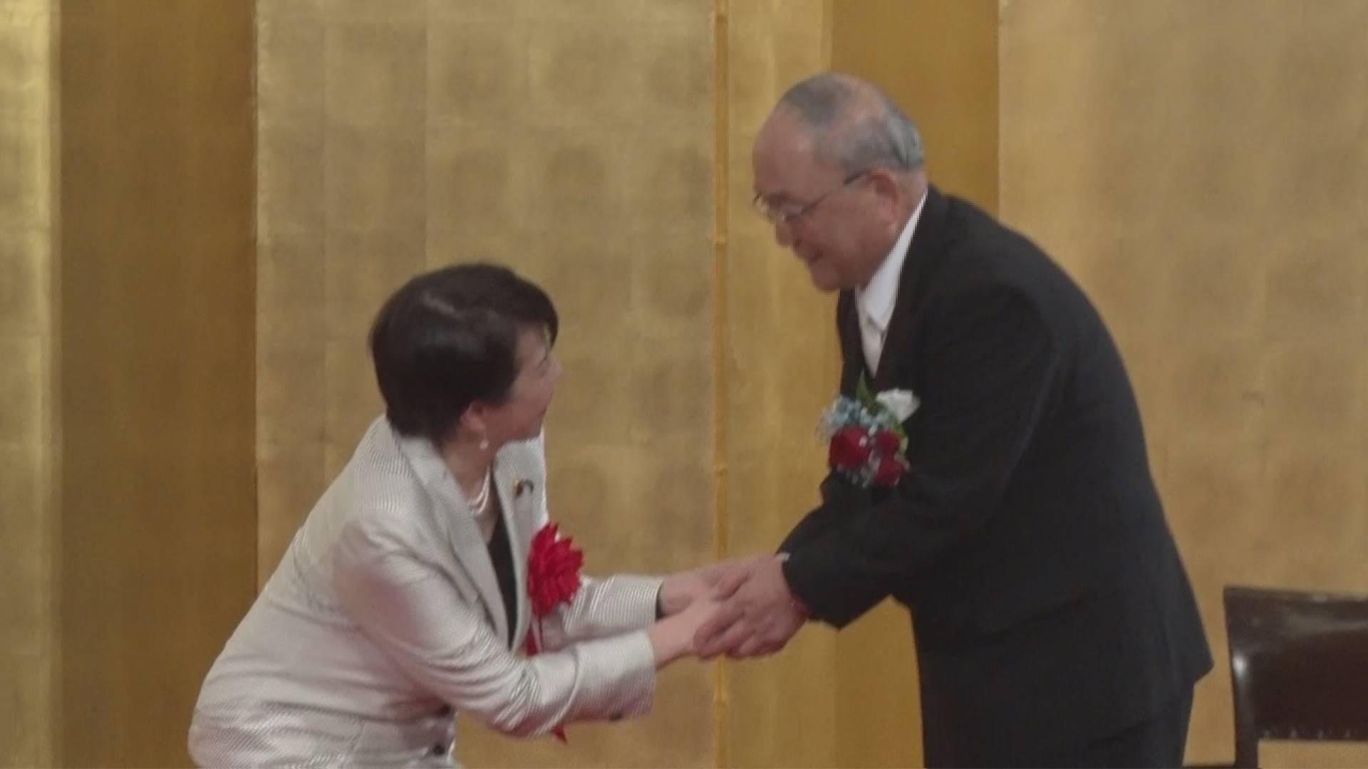 褒章記念パーティーに 高市早苗総務大臣も参列