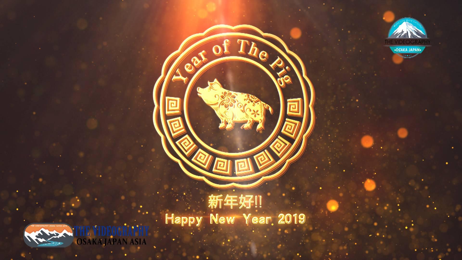 祝你新年好! 中国 旧正月 春節 春节 2019 亥年の新年 オープニングムービー。Year of the Pig / Boar. Chinese New Year / Lunar New Year Spring Festival。
