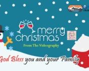 クリスマス用 デジタルサイネージ映像制作