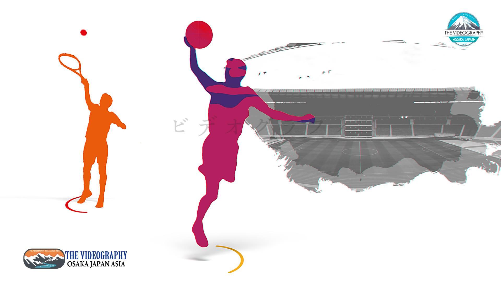 テニス バレーボールなどスポーツ行事 運動会のオープニング動画コンテンツ制作