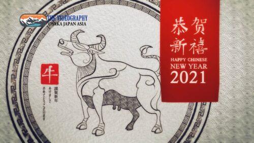 祝你新年好! 中国 旧正月 春節 春节 2021年 令和3年 丑年の新年オープニングムービ